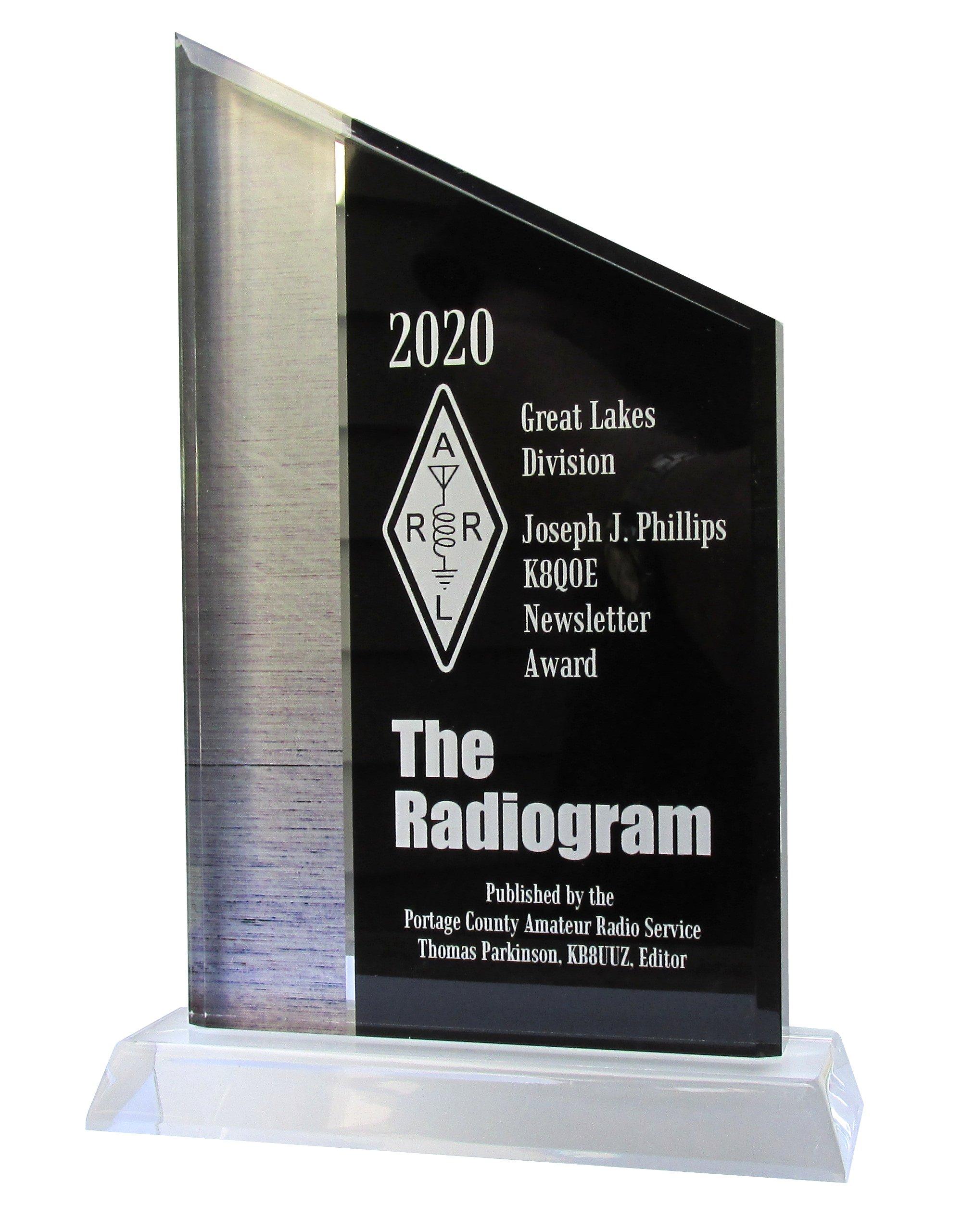 Winner of the 2020 Joseph Phillips Newsletter Award